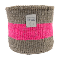 Stapelgoed Sisal Korb Grey / Pink